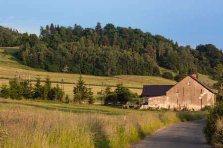 Western Sudetes, Kaczawskie Mountains, Village Swidnik, Poland, Lower Silesia Region. The month of June. Stock Photo