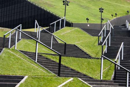 refilling: Katowice, Poland, fragment development of urban space. Stock Photo
