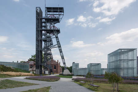 Katowice, Poland - July 10, 2016 Region Upper Silesia. The grounds of the Silesian Museum. The museum is housed in the former coal mine Katowice. Editorial