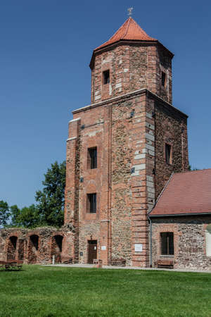 xv century: Castle in Toszek - brick building from the beginning of the 15th century. The present headquarters of the Toszeckich cultural institutions. Stock Photo