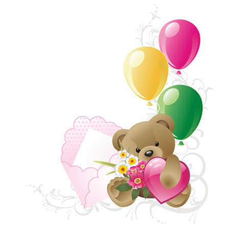 Teddy Bear with balloons photo