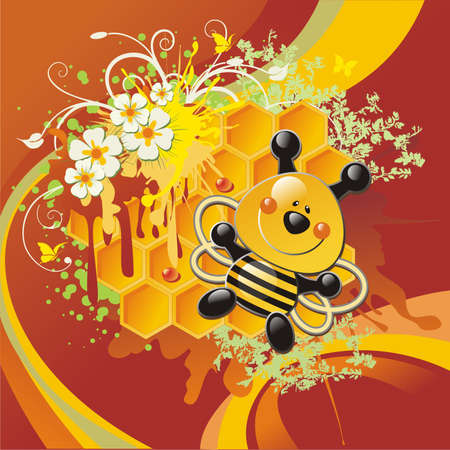 trickle: bee and honeycomb