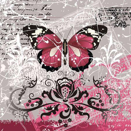interweaving: sfondo con farfalla