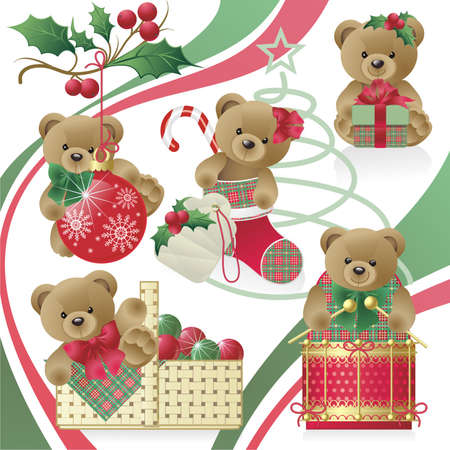 stockings: Christmas Teddy Bears