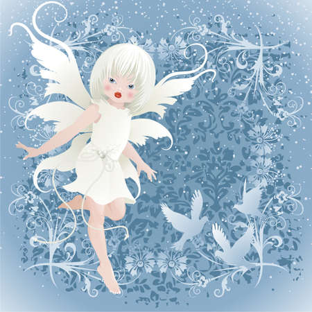 winter angel  Vector