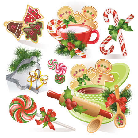 christmas cookie: Christmas gingerbreads candies and cookies