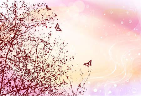 tekening vlinder: lente illustratie
