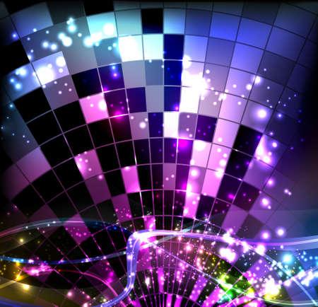 retro disco: bola de disco
