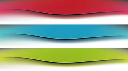 Set of colorful vector banners Ilustrace