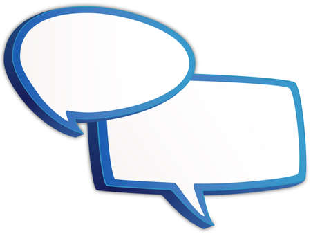 discussion forum: Vector design of a colorful Speech bubbles icon