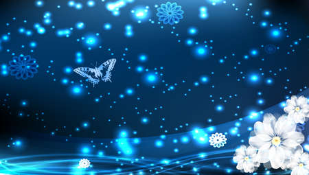 airiness: Light blue background with flower