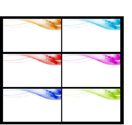 smooth banners or web site headers Vector