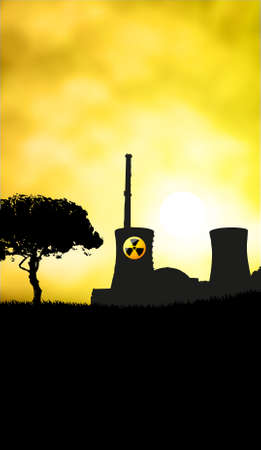 Nuclear danger sunset with place for text Stock Photo - 9475056
