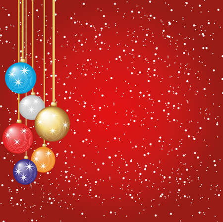 christmas balls with place for text Vector