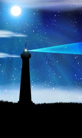 lighthouse at night: Fondo de faros con lugar para texto