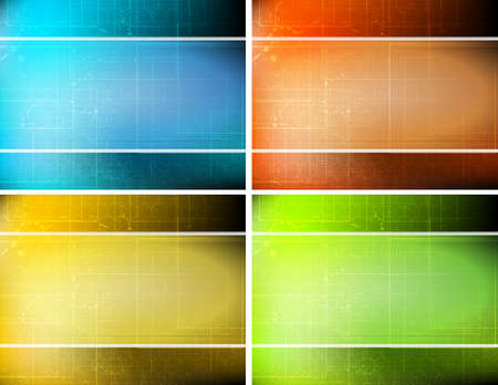 sample striped background set with 4 cards Stock Vector - 9717902