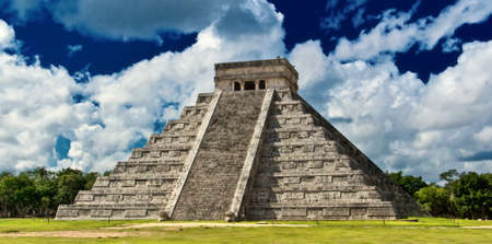 Chichen Itza,the main pyramid El Castillo,Located in the Yucatan Peninsula of Mexico Stock Photo