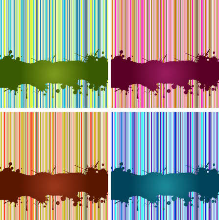 lineas verticales: Fondo de rayas retro a�os 70 con lugar para texto Foto de archivo