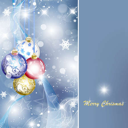 elegant christmas background with place for text Stock Vector - 10055950