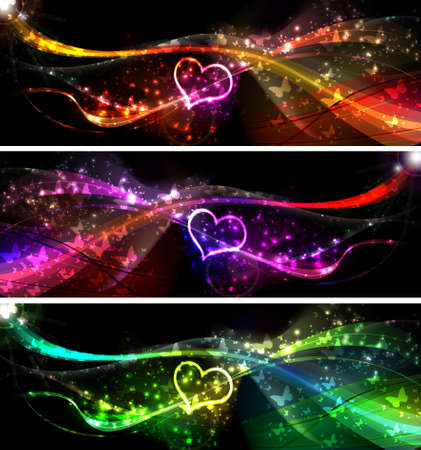 Flying hearts Valentines day or Wedding vector background Vector