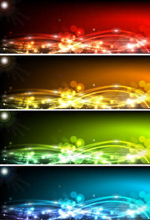 Abstract vector red yellow background vector illustration Vector