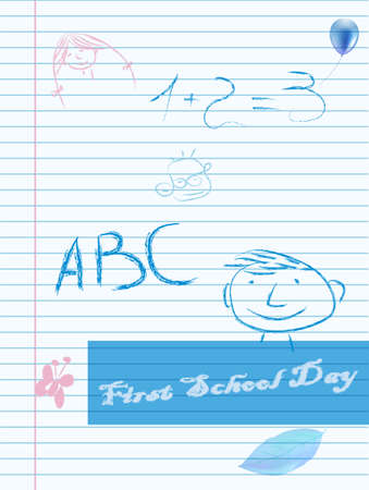 Fist school day paper with place for text Vector