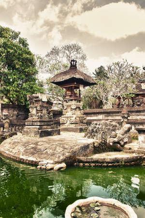Traditional balinese temple - pura batuan bali photo