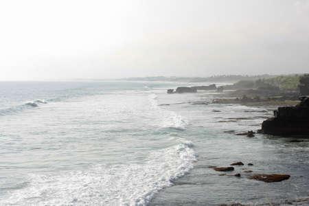 Strong Waves At Tanah Lot, Bali indonesia photo