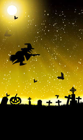 halloween invitation or background with spooky bats Stock Vector - 10668883