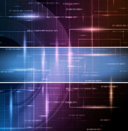 футуристический: абстрактные технологии дизайна с местом для текста