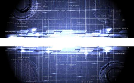 resumen de diseño de alta tecnología con el lugar de texto Ilustración de vector