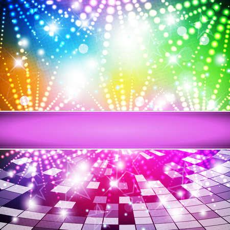 siebziger jahre: Intensive Farben des Regenbogens Hintergrund - abstrakte Vektor
