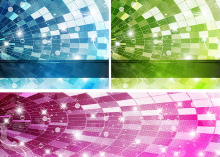 Intensive colors background set - abstract vector