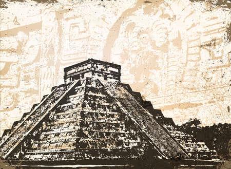 the pyramids: Antique Mayan Pyramid Chichen Itza in Mexico