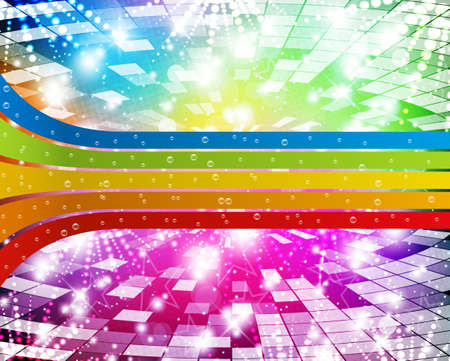 Intensive rainbow colors background