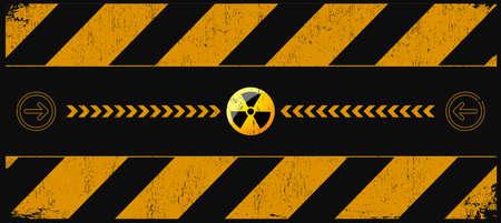 bombe atomique: nucléaire fond d'avertissement de danger avec place pour le texte Illustration