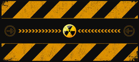 nuclear danger warning background with place for text Vector