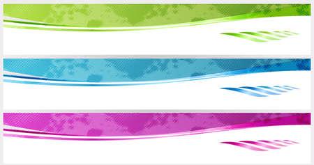 site web: banner liscia o intestazioni di Web site Vettoriali