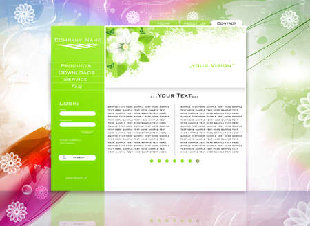 green website business template easy to edit Stock Vector - 11815288