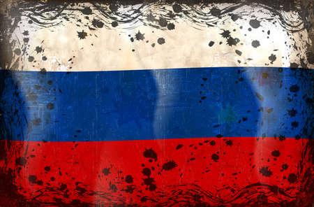 bandera rusia: Bandera de Rusia, blanco, azul y rojo de la bandera de Rusia. Vectores