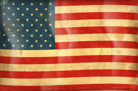 Old grunge flag of usa background vector Vector