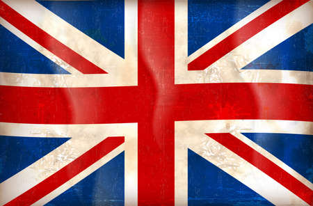 union jack: grunge illustration of flag of The United Kingdom of Great Britain and Northern Ireland