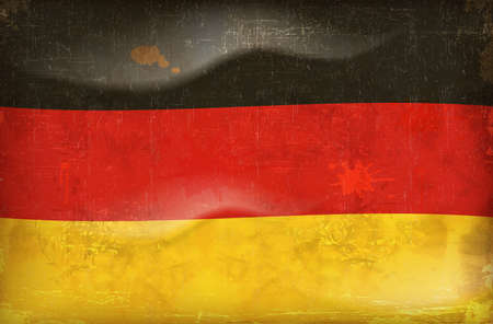 Old grunge flag of germany background vector Stock Vector - 12023322