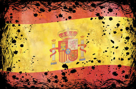 Grunge flag series of all sovereign countries - Spain Vector
