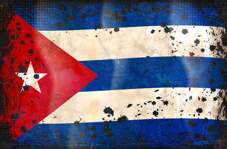 havana: Cuban grunge flag A grunge flag of Cuba Illustration