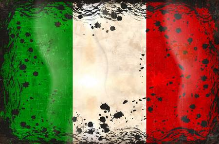 Grunge flag series of all sovereign countries - Italy Vector