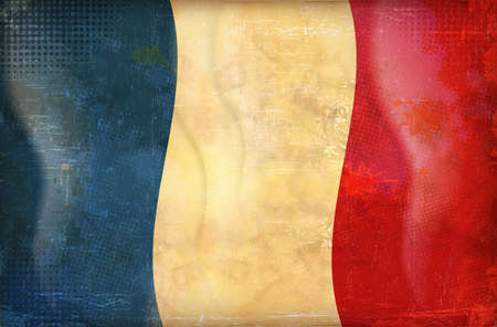 bad condition: Old grunge flag of france background vector Illustration