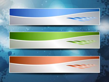 abstract technology banner with place for text Stock Vector - 12492677