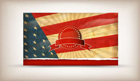 american history: Old grunge flag of usa background vector
