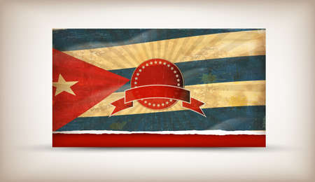 cuban flag: Cuban grunge flag A grunge flf Cubag oa